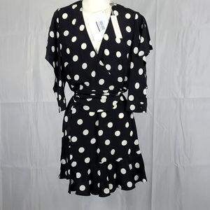 Michelle Mason Polka Dot Wrap Dress size 0
